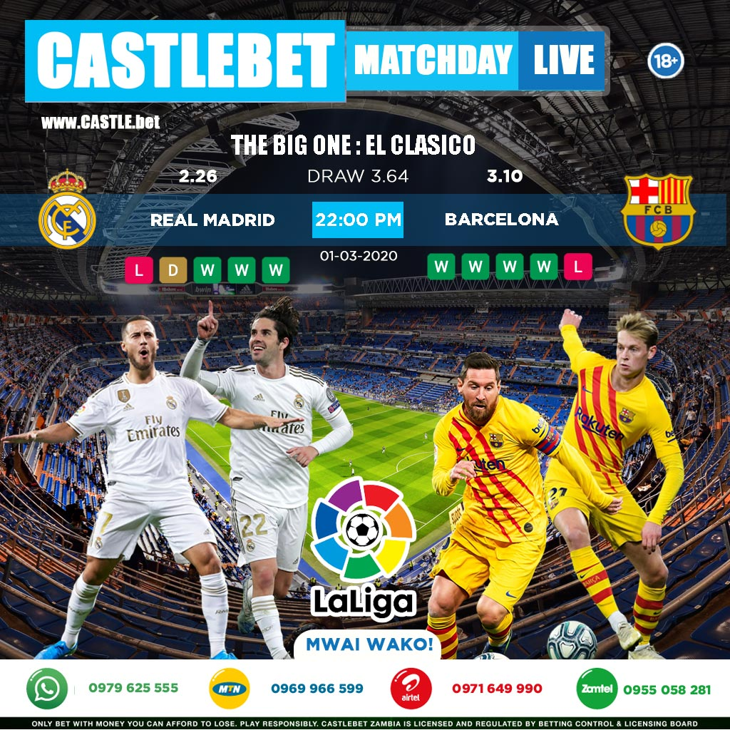 Betting real madrid barcelona wsb boxing betting rules